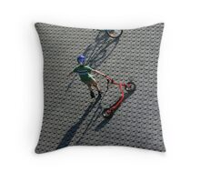 Play with shadow Throw Pillow