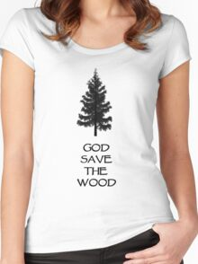 God Sae the Wood Women's Fitted Scoop T-Shirt