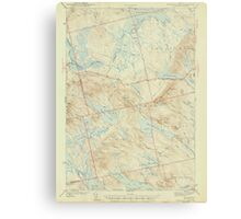Maine USGS Historical Map Scraggly Lake 306760 1944 62500 Canvas Print