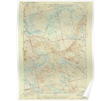 Maine USGS Historical Map Scraggly Lake 306760 1944 62500 Poster