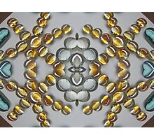 Golden Stripped Glass Droplets Photographic Print