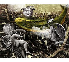 The Lettuce Angel, the Cloud-Maker and the Cucumber Whale Dirigible Photographic Print