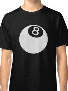 ball number 8 for black t-shirt Classic T-Shirt