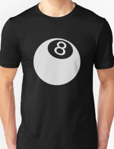 ball number 8 for black t-shirt Unisex T-Shirt