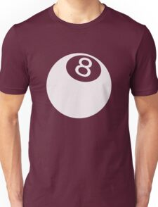 ball number 8 for black t-shirt Unisex T-Shirt