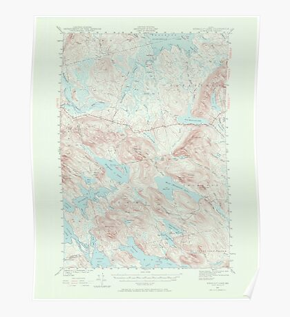 Maine USGS Historical Map Scraggly Lake 306761 1941 62500 Poster