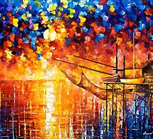 Wooden Dock — Buy Now Link - www.etsy.com/listing/224048596 by Leonid  Afremov