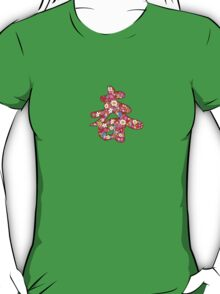 "Chinese Calligraphy ""Chun"" Spring Flowers T-shirt (Small Print) T-Shirt"
