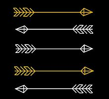 Black and Gold Arrow Print by inspoalamode