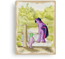 Twilight and Spike in Hundred Acre Wood Canvas Print