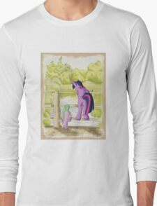 Twilight and Spike in Hundred Acre Wood Long Sleeve T-Shirt