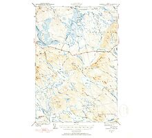 Maine USGS Historical Map Scraggly Lake 460841 1941 62500 Photographic Print