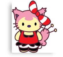 Hello Skitty - May Canvas Print