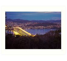 Dusk, Tasman Bridge Art Print