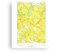 Maine USGS Historical Map Scraggly Lake 460842 1941 62500 Canvas Print