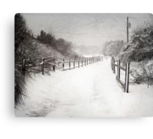 Silence of Snow  Canvas Print
