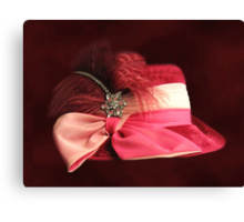 BEAUTIFUL CLASSY WOMANS HAT-CHAPEAU---PICTURE AND OR PRINTS ECT Canvas Print