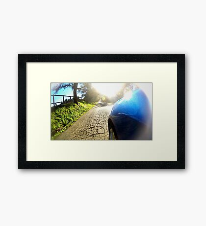 Subaru WRX country road Framed Print
