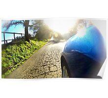 Subaru WRX country road Poster