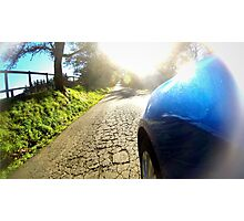 Subaru WRX country road Photographic Print