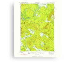 Maine USGS Historical Map Scraggly Lake 460843 1941 62500 Canvas Print