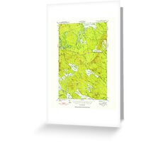 Maine USGS Historical Map Scraggly Lake 460843 1941 62500 Greeting Card