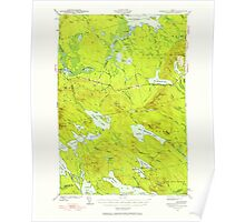 Maine USGS Historical Map Scraggly Lake 460843 1941 62500 Poster