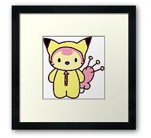Hello Skitty - Pikachu Framed Print