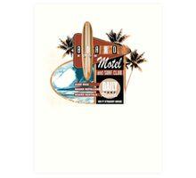 surf motel Art Print