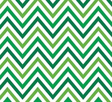 Green Chevron by holidayswaggs