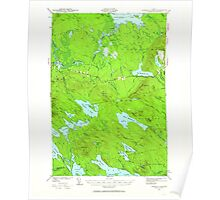 Maine USGS Historical Map Scraggly Lake 460844 1941 62500 Poster