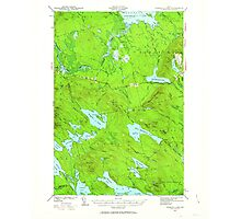 Maine USGS Historical Map Scraggly Lake 460844 1941 62500 Photographic Print