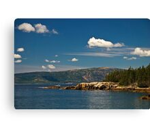 A Lobster Boat off the Schoodic Peninsula, Maine Canvas Print