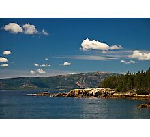 A Lobster Boat off the Schoodic Peninsula, Maine Photographic Print