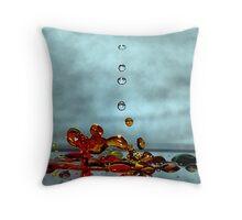 Giraffe Splash Throw Pillow