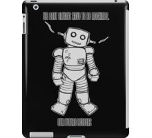 Robot Machines Black iPad Case/Skin