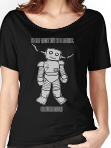 Robot Machines Black Women's Relaxed Fit T-Shirt
