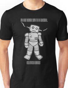 Robot Machines Black Unisex T-Shirt