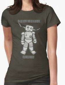 Robot Machines Black Womens Fitted T-Shirt