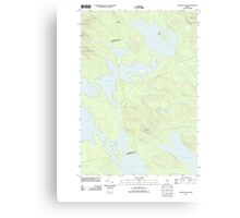 Maine USGS Historical Map Scraggly Lake 20110829 TM Canvas Print