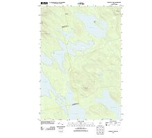 Maine USGS Historical Map Scraggly Lake 20110829 TM Photographic Print