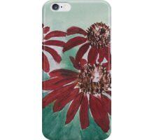 Red Salsa Coneflower iPhone Case/Skin