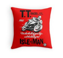 Isle Of Man TT 1961 Throw Pillow