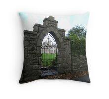 Doorway to the Past Throw Pillow