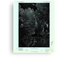 Maine USGS Historical Map Scraggly Lake NE 807130 1975 24000 Canvas Print