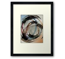 Paper Weight Multiple Exposure - Color Framed Print