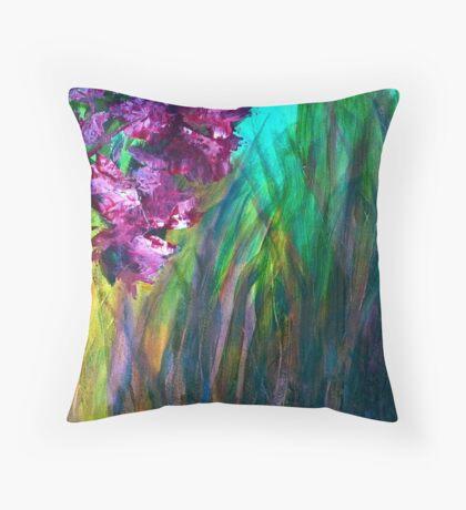 Marshland Flowers Throw Pillow