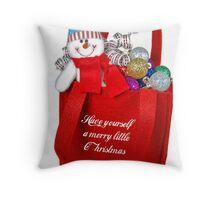 A Merry Little Christmas Throw Pillow