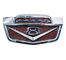 Ford V8 Emblem Photographic Print