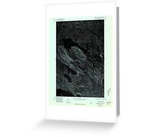 Maine USGS Historical Map Scraggly Lake SE 807132 1975 24000 Greeting Card
